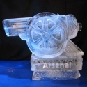 Arsenal FC logo Vodka Luge from Passion for Ice