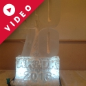 Initials AK and DK Vodka Luge from Passion for Ice