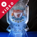 Liverpool FC Logo Vodka Luge from Passion for Ice