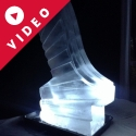 Elegant Wedding Ski Jump Vodka Luge from Passion for Ice
