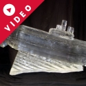 Submarine Vodka Luge Ice Sculpture