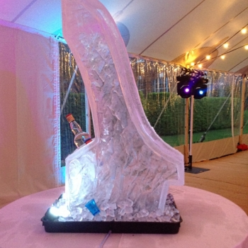 side view of the Ski Jump Vodka Luge from Passion for Ice
