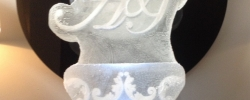 A&J Initials Vodka Luge for Amy's Wedding from Passion for Ice