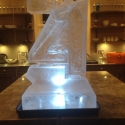 "Half-size ""21""-shaped Vodka Luge from Passion for Ice"