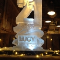 21 number with name carved into the base Vodka Luge from Passion for Ice
