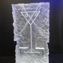 Martinin Glass relief Vodka Luge from Passion for Ice
