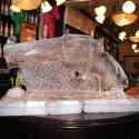 Gun slinger's Wild West revolver Vodka Luge from Passion for Ice