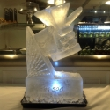 Hand holding a Martini Glass Vodka Luge from Passion for Ice