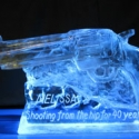 Hand Gun Vodka Luge From Passion for Ice