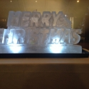 Merry Christmas Vodka Luge from Passion for Ice