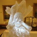 Skull and Crossbones Vodka Luge from Passion for ice