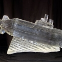 Submarine Vodka Luge Ice Sculpture