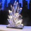 Fire and Ice Shards Vodka Luge from Passion for Ice
