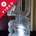 40 with name carved in the base Vodka Luge from Passion for Ice