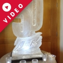 50 with name carved in the base Vodk Luge from Passion for Ice