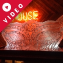 The Lacehouse Masquearde Ball Mask Vodka Luge from Passion for Ice