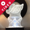 A&J initials Vodka Luge from Passion for Ice