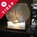Landscape format carved Boobs Vodka Luge from Passion for Ice
