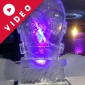 Star Wars character CP3O Vodka Luge from Passion for Ice