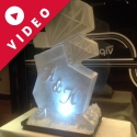 Diamonds with initials Vodka Luge from Passion for Ice