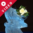 Dolphin with basket on back Ice Sculpture