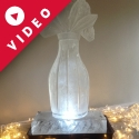 Flowers in a vase Vodka Luge from Passion for Ice