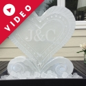 Half-size Ice Block Vodka Luge from Passion for Ice