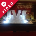 JVF Initials Vodka Luge from Passion for Ice