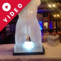 Frontal short of Male Torso Vodka Luge from Passion for Ice