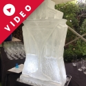 1920's Art Deco Martini Glass Vodka Luge from Passion for Ice