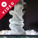 Snake wrapped around a tree Vodka Luge from Passion for Ice