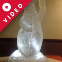 Snowman waving Vodka Luge from Passion for Ice