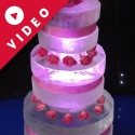 Three-tier Wedding Cake Vodka Luge from Pasion for Ice
