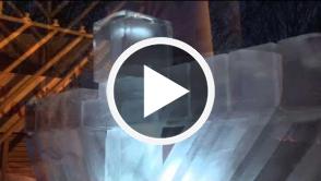 Chanukah - Ice Menorah