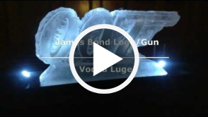 James Bond Logo gun Vodka Luge