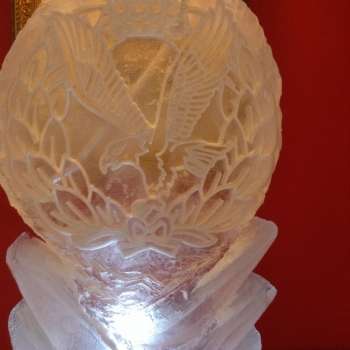 close-up Army Air Corp Badge Vodka Luge from Passion for Ice