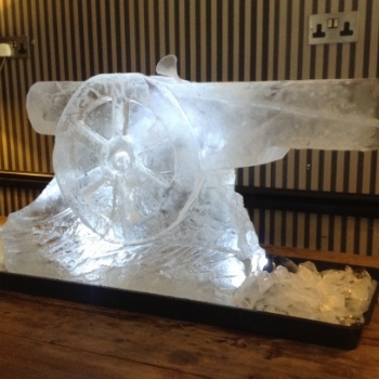 The Arsenal Canon Vodka Luge from Passion for Ice