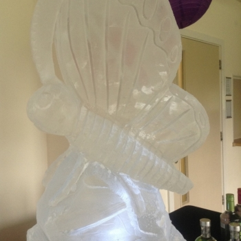 Close-up of Butterfly Vodka Luge from Passion for Ice