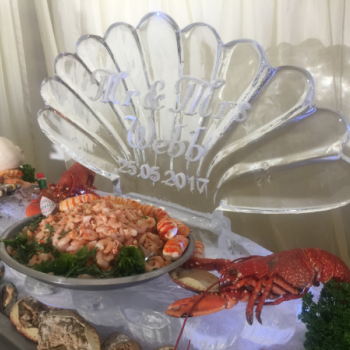 1m Clam Shell Ice Sculpture from Passion for Ice