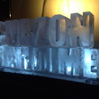 side view of Curzon Maritime Vodka Luge from Passion for Ice