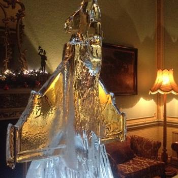 side view of Eurofighter Jet Vodka Luge from Passion for Ice