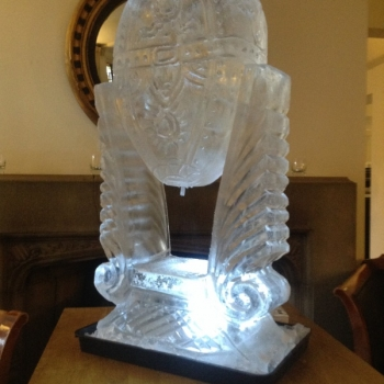 Side view of Faberge Egg Vodka Luge from Passion for Ice