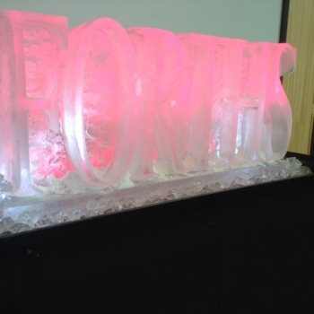 angled view of the 2017 version of FORTHS Vodka Luge from Passion for Ice