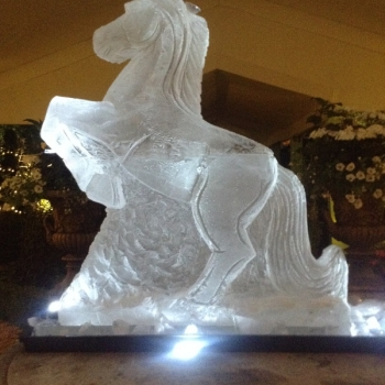 2-ice block Horse rearing Vodka Luge from Passion for Ice