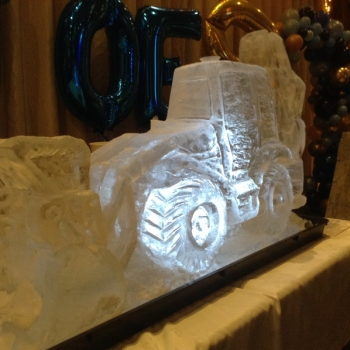 JCB 4CX Vodka Luge from Passion for Ice