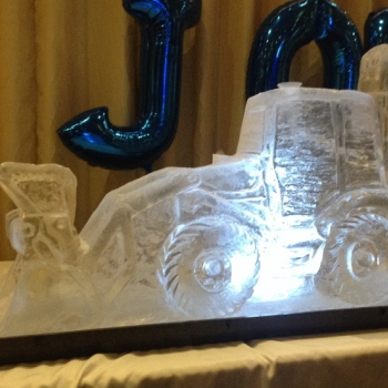 JCB Digger Vodka Luge from Passion for Ice