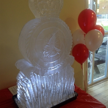 Side angle shot of RAF Marham TIW Vodka Luge from Passion for Ice