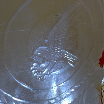 Close-up of RAF Marham TIW Vodka Luge from Passion for Ice