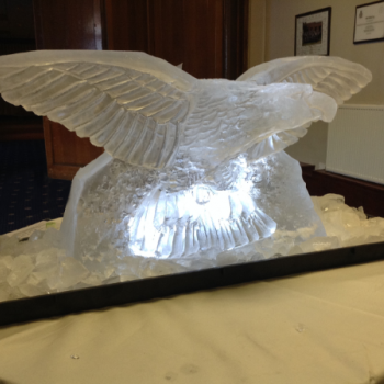 Swooping Eagle Crest Vodka Luge from Passion for Ice