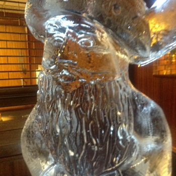 Close up of Santa Vodka Luge from Passion for Ice